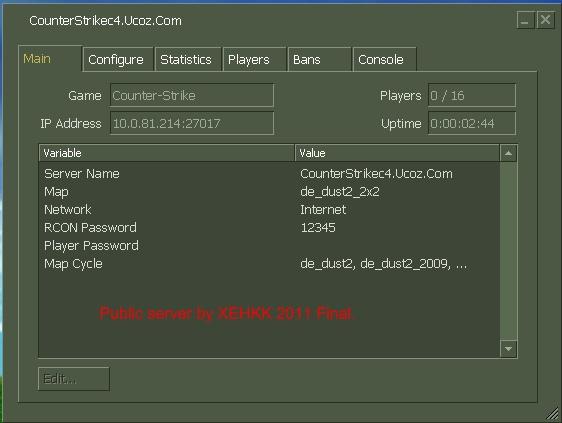 ...это поле отображает только. локальный. ip адрес,а не интернета Uptime - время работы сервера Таблица: Server Name.